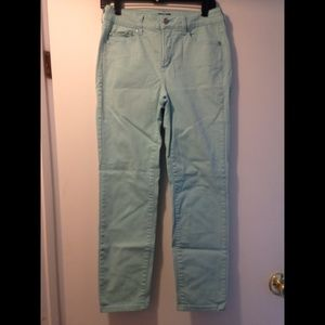 NYDJ jeans lift tuck Aqua color ankle size 6
